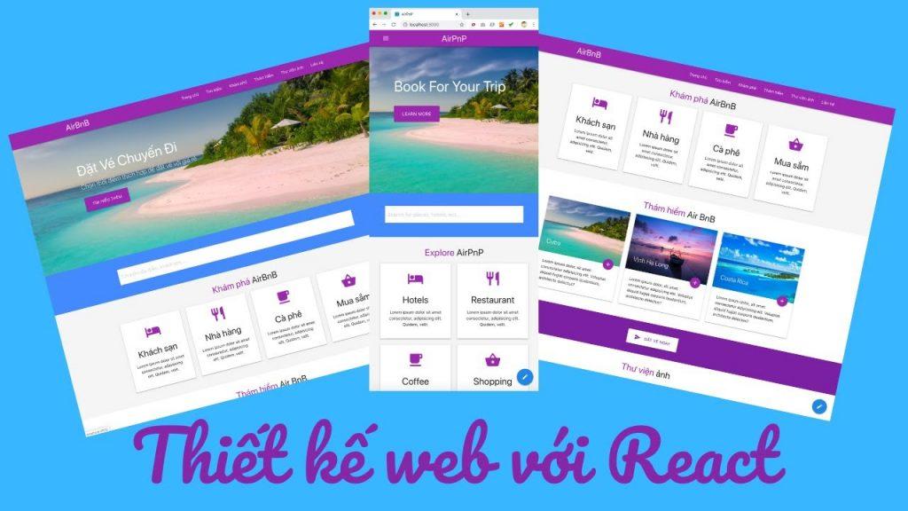 Thiết kế website reactjs