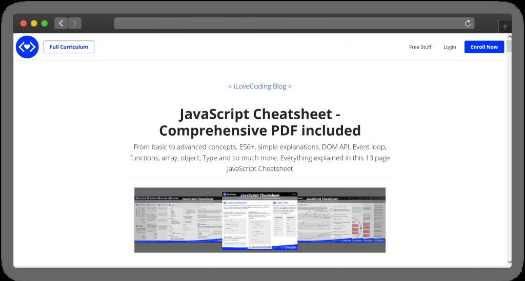 Javascript Cheatsheet thiết yếu